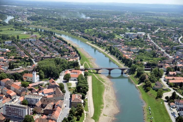 Sisak iz zraka Grad Sisak